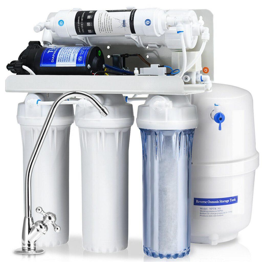 vandens filtrų įtaka